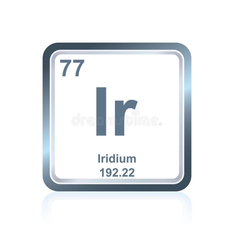 Chemical Element Iridium From The Periodic Table Stock Illustration