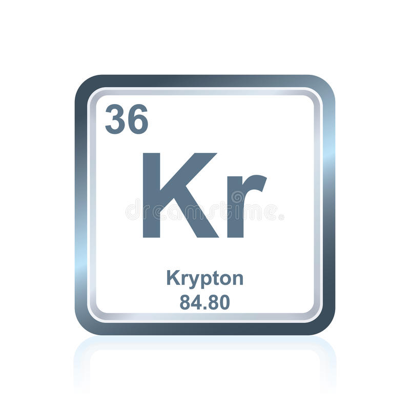 Chemical Element Krypton From The Periodic Table Stock Illustration