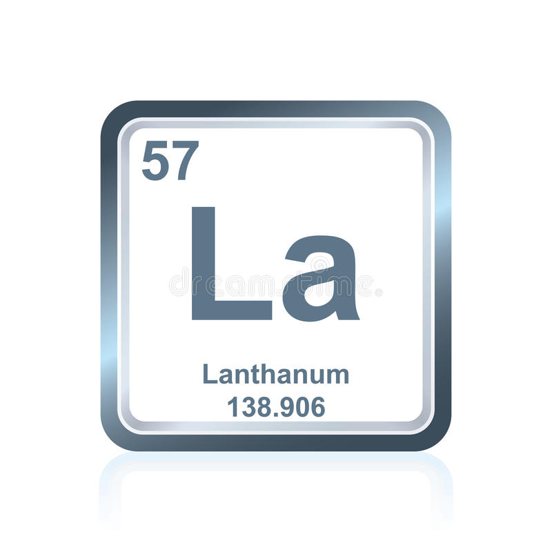 download chemical element lanthanum from the periodic table stock illustration illustration of illustration digital - Lanthanum Periodic Table Atomic Mass