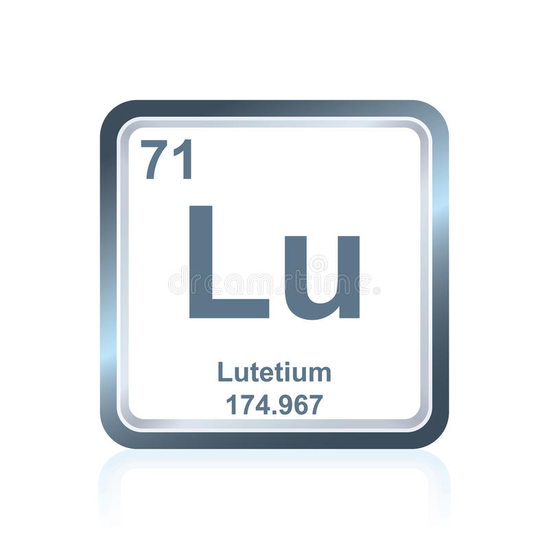 Chemical Element Lutetium From The Periodic Table Stock Illustration