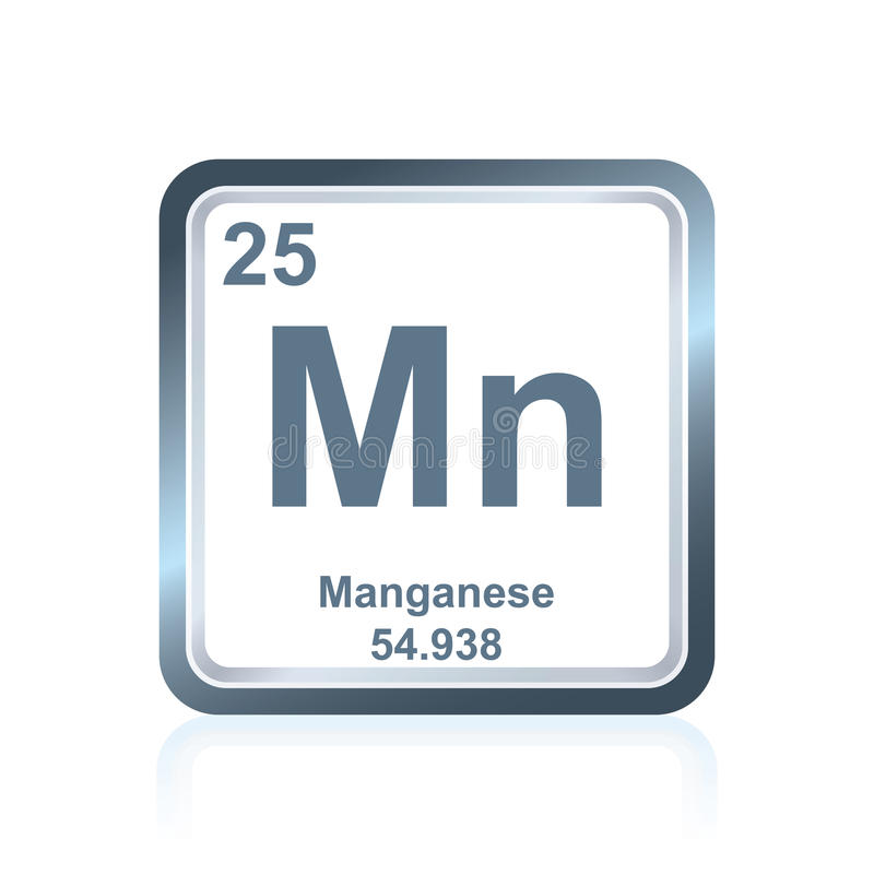 Chemical Element Manganese From The Periodic Table Stock ...