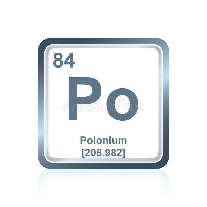 Chemical element polonium from the Periodic Table vector illustration