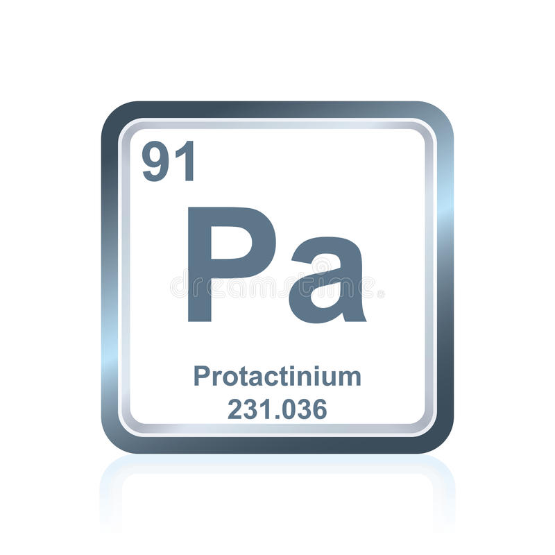 Chemical element protactinium from the Periodic Table stock illustration