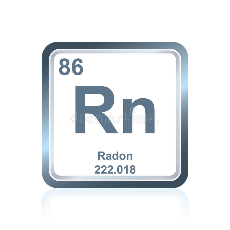 Chemical element radon from the Periodic Table royalty free illustration