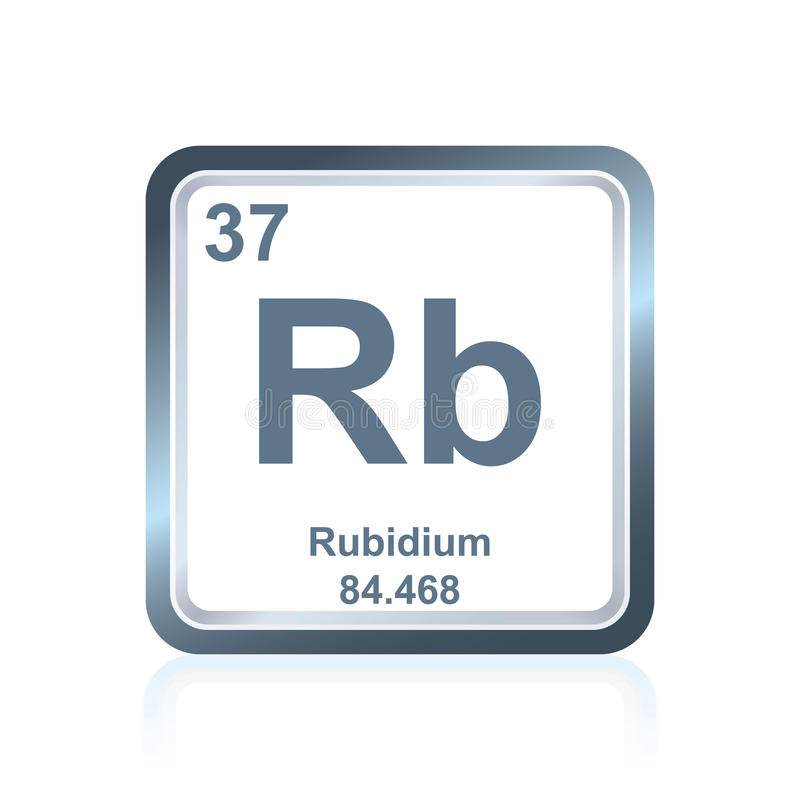 Chemical Element Rubidium From The Periodic Table Stock ...