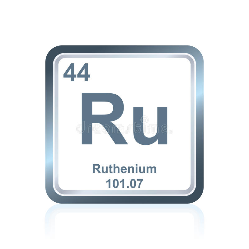 Chemical Element Ruthenium From The Periodic Table Stock