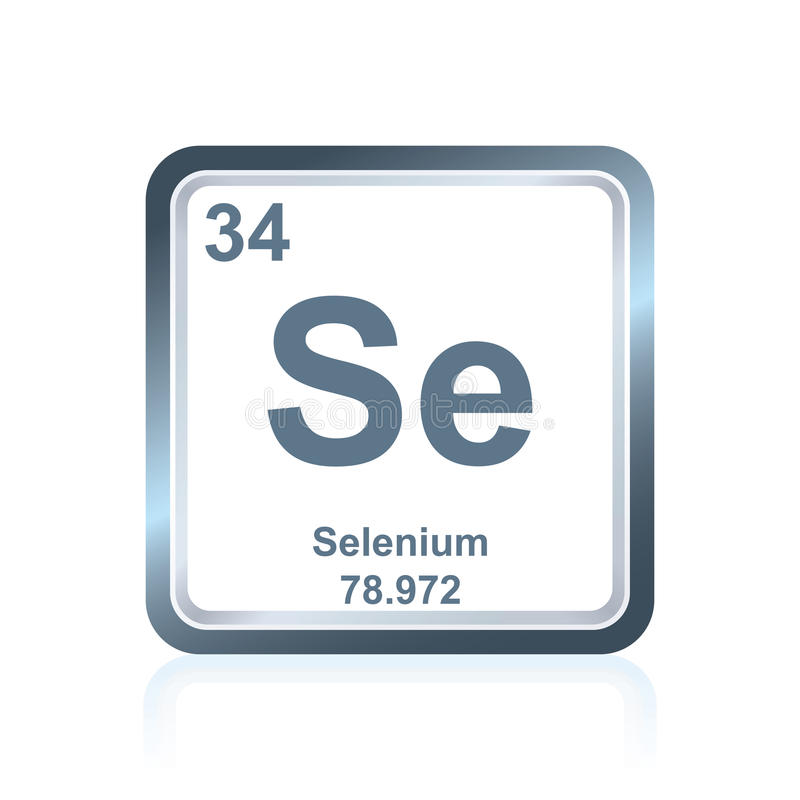 Chemical Element Selenium From The Periodic Table Stock Illustration