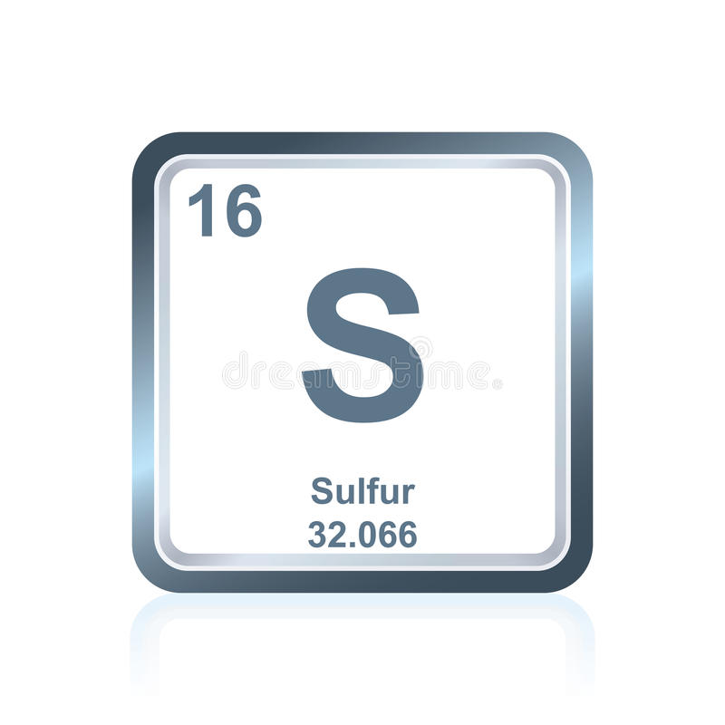 Chemical element sulfur from the periodic table stock vector download chemical element sulfur from the periodic table stock vector illustration of element research urtaz Images