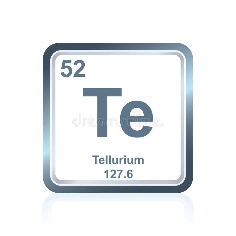 Chemical element tellurium from the Periodic Table royalty free illustration