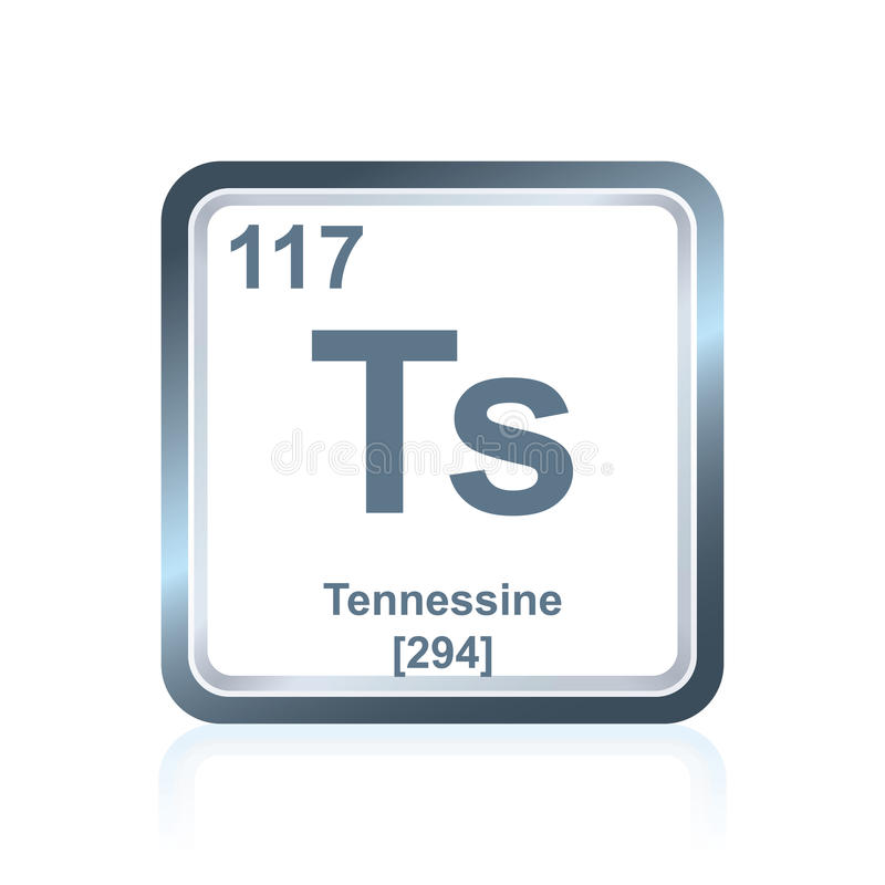 Chemical element tennessine from the Periodic Table vector illustration