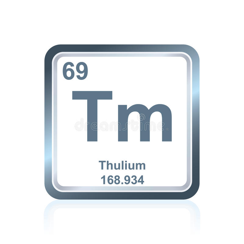 Chemical element thulium from the Periodic Table vector illustration