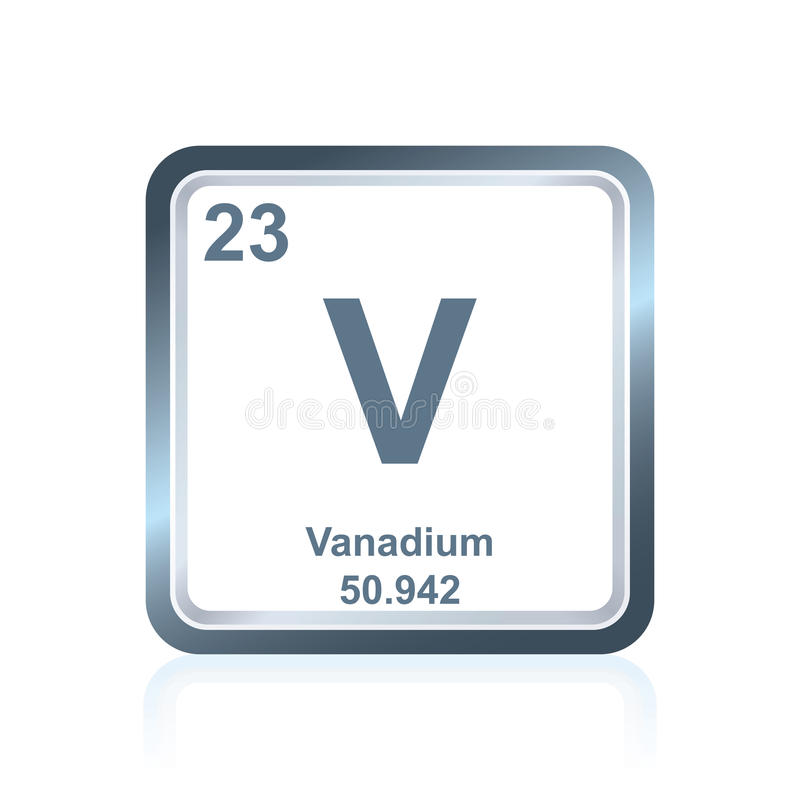Chemical Element Vanadium From The Periodic Table Stock Illustration