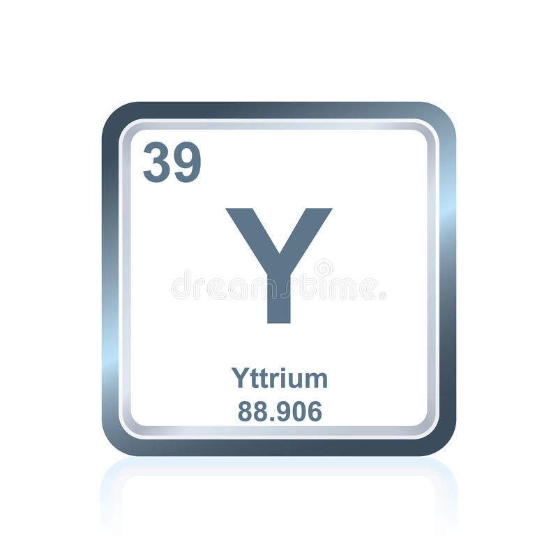 Chemical element yttrium from the Periodic Table vector illustration