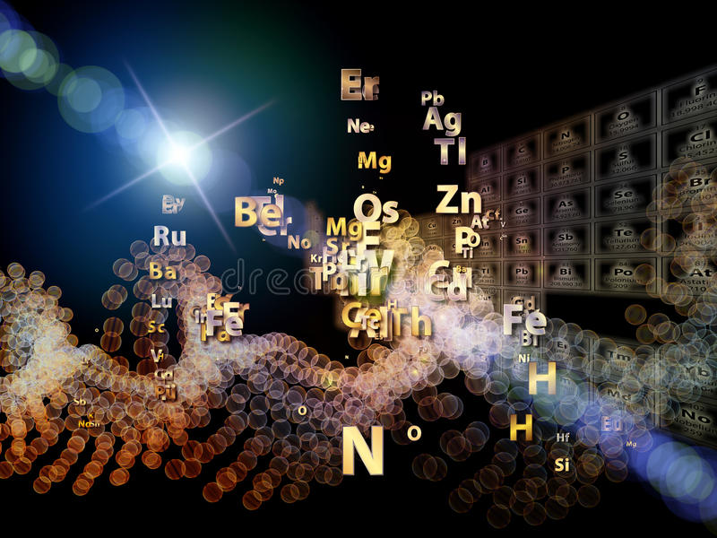 Chemical Elements Arrangement Royalty Free Stock Photo
