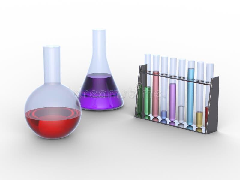 chemical equipementlaboratorium stock illustrationer