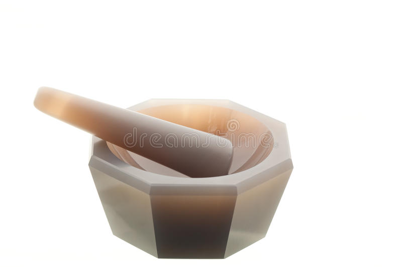 Chemical equipment - pestle and mortar. royalty free stock image