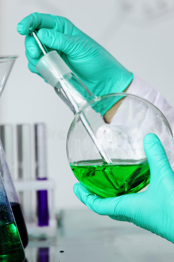 Download Chemical experiment stock photo. Image of biotechnology - 19703042