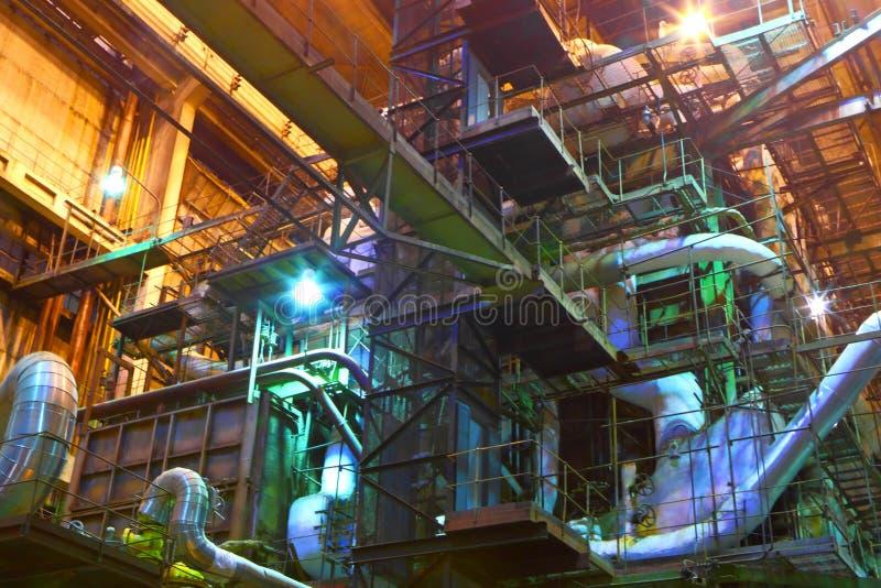 chemical fabrik royaltyfria bilder
