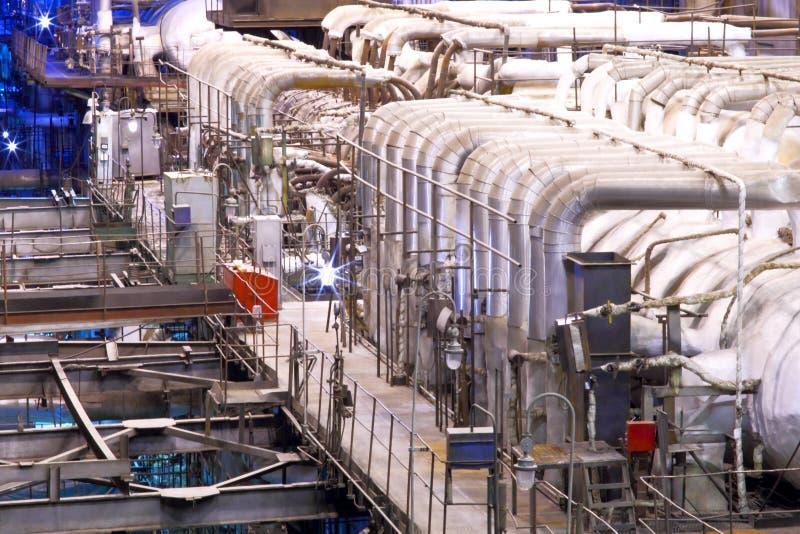 chemical fabrik royaltyfri foto
