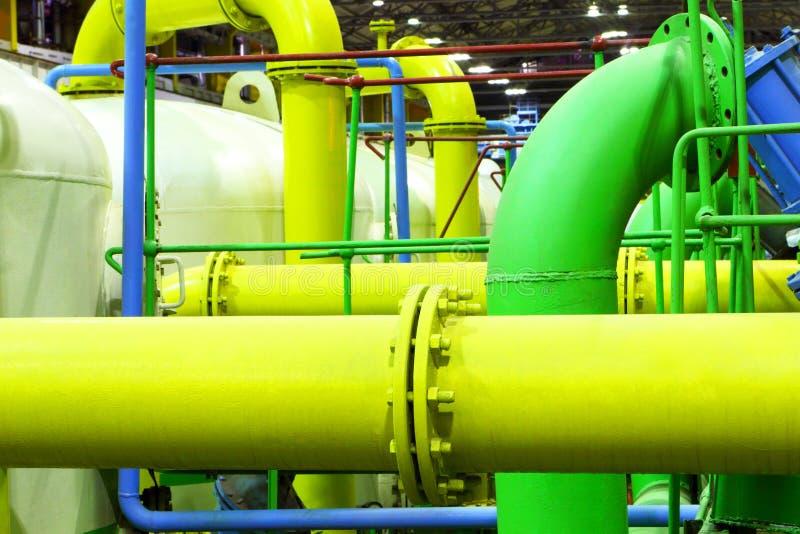 chemical fabrik industriell utrustning Gas-rör royaltyfri fotografi