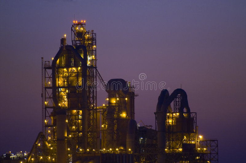 Chemical factory in Desert Israel stock photos
