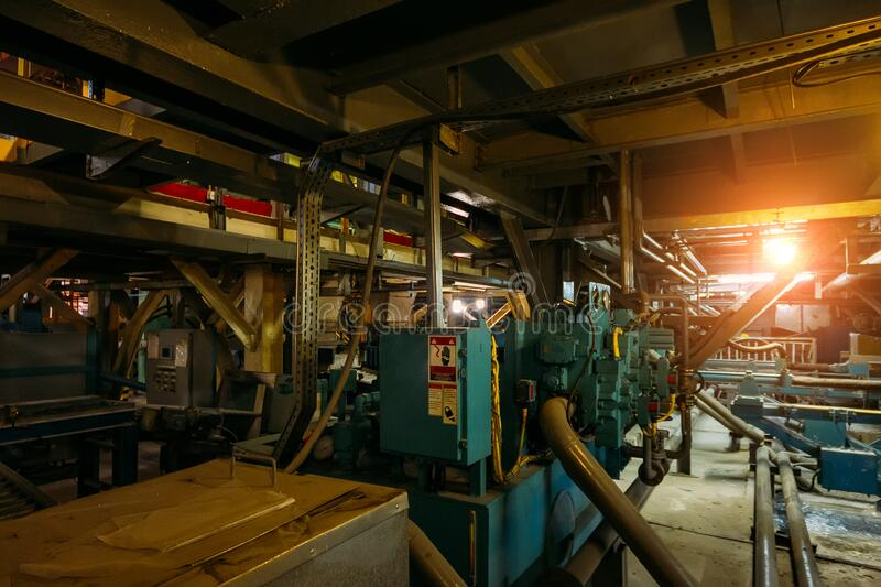 Chemical factory. Elastomer and thermoplastic production line.  royalty free stock photography