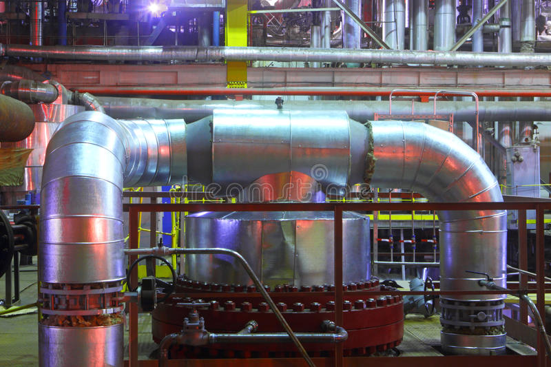 Chemical factory.The interior of the refinery. stock photography