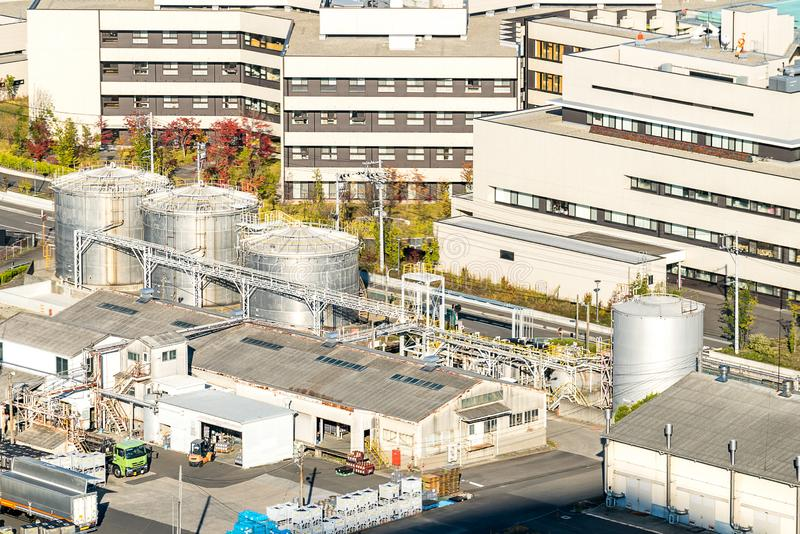 Chemical Factory plant royalty free stock photography