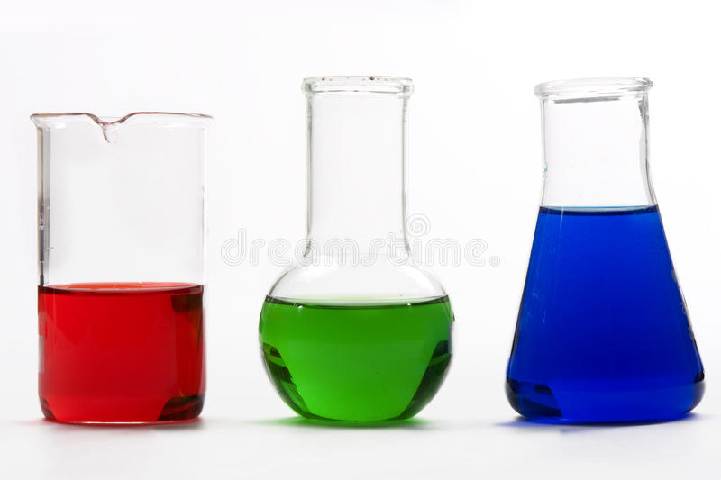Chemical flask royalty free stock photo