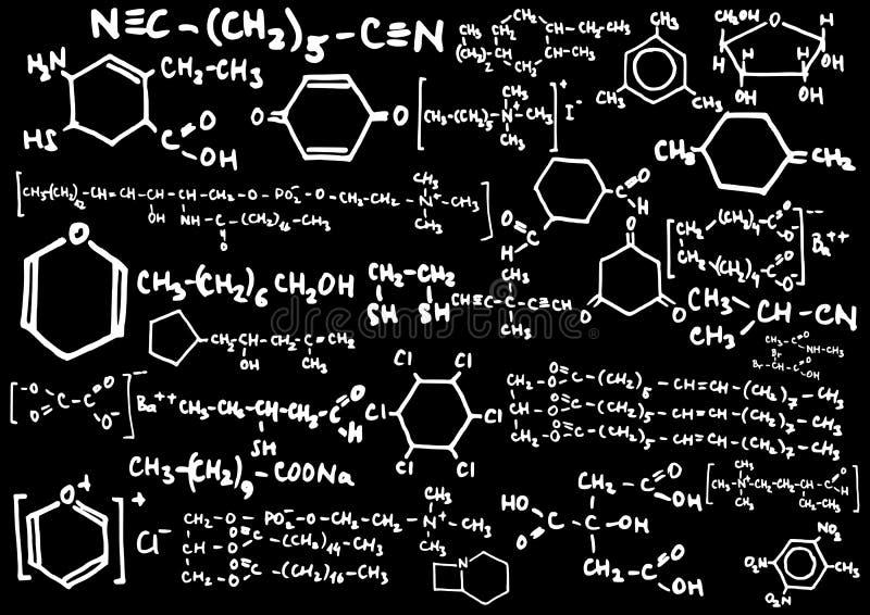 chemical formel royaltyfri illustrationer