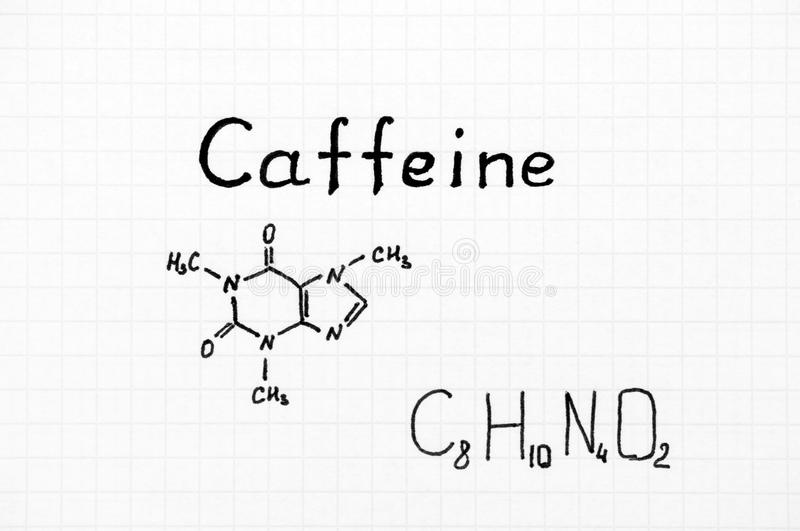 Chemical Formula Of Caffeine Stock Image Image Of Structure