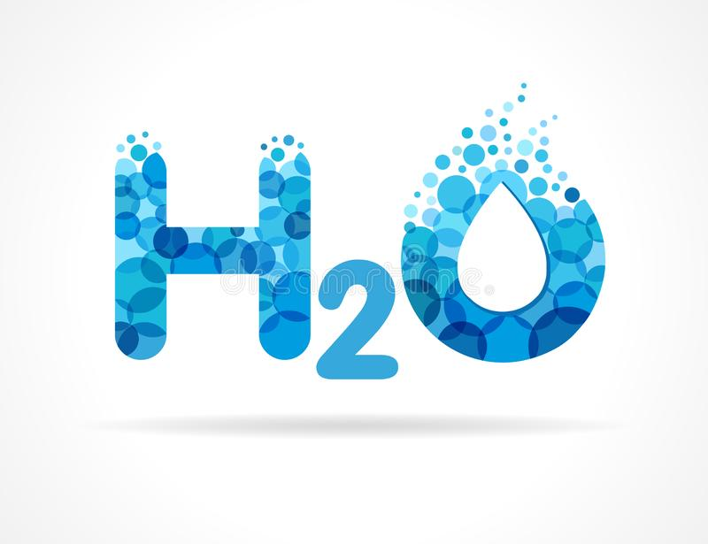 Splash Water Formula H2O stock illustration  Illustration of