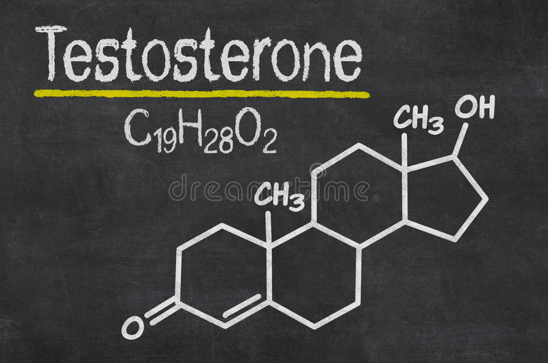 Chemical formula of testosterone royalty free stock photography