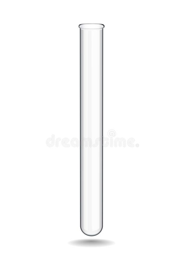 Chemical glass test tube is used in medical and research institutions during biochemical and other studies in practice royalty free illustration