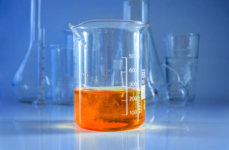 Chemical glassware. royalty free stock photos