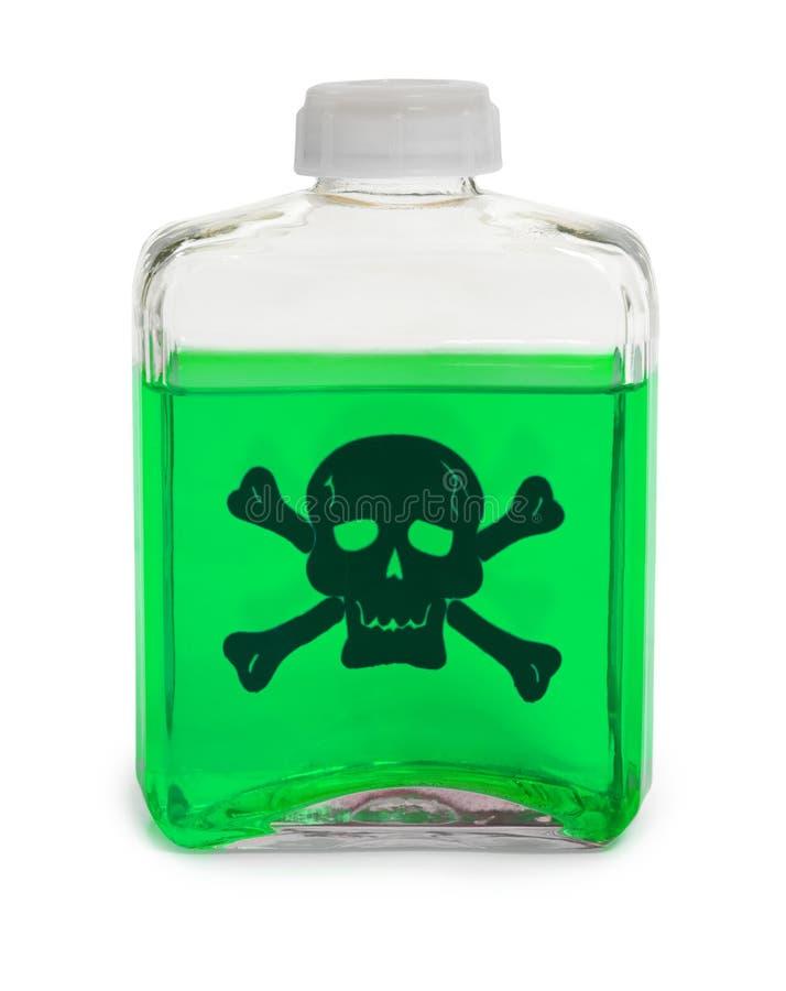 chemical grönt lösningsgift för flaska arkivbilder