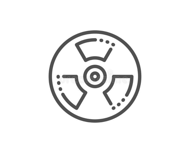Chemical hazard line icon. Laboratory toxic sign. Chemistry warning. Vector stock illustration