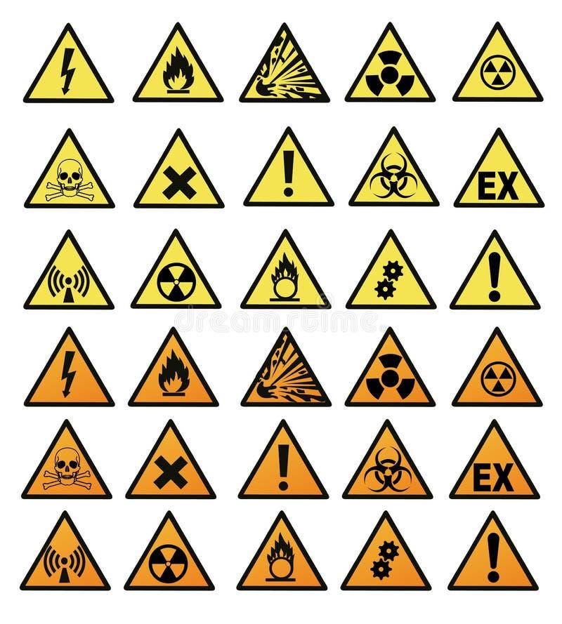 Chemical hazard signs vector illustration