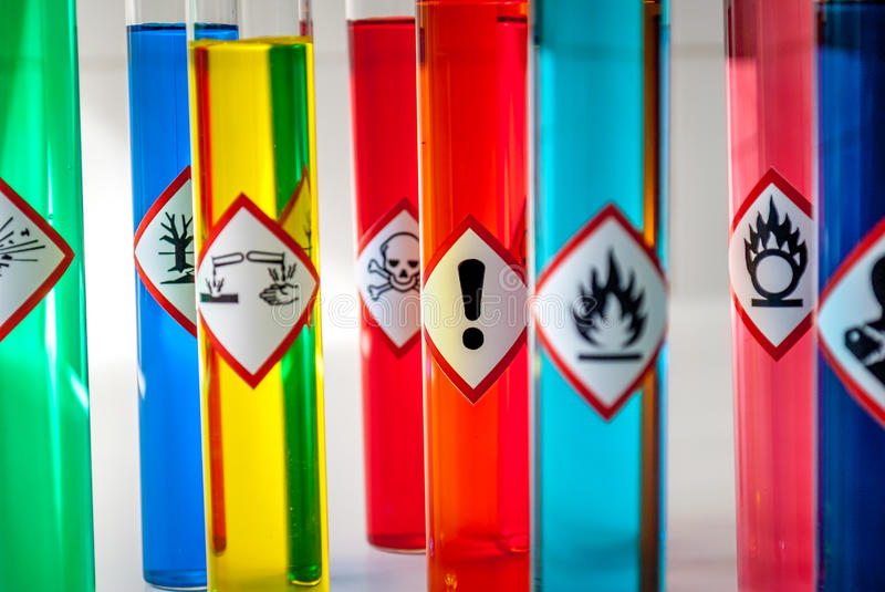 Chemical Health hazard pictogram royalty free stock images
