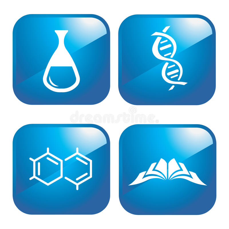Chemical icons royalty free illustration