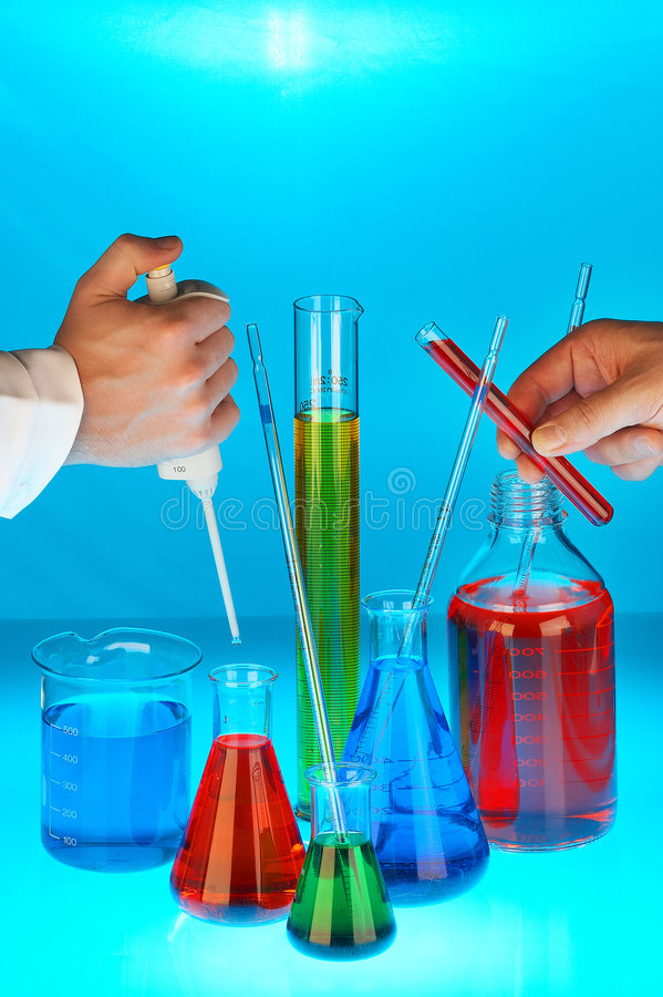 chemical industri arkivbild