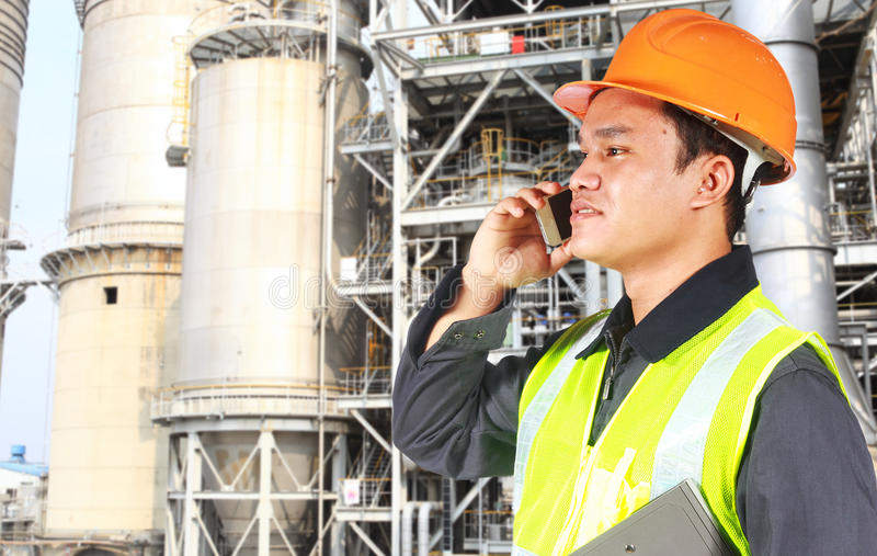 Chemical industrial engineer royalty free stock photography