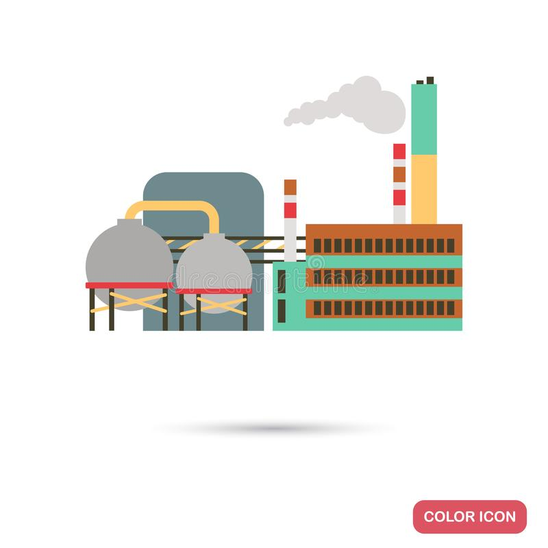 Chemical Industry factory color flat illutration stock illustration