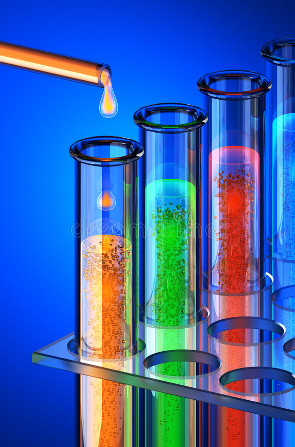 chemical kemiframtidsreagents royaltyfri illustrationer