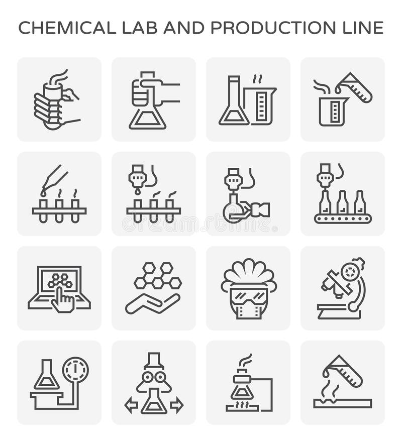 Chemical lab icon royalty free illustration