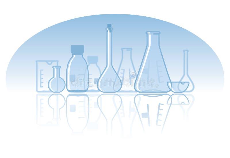 Chemical laboratory background stock illustration