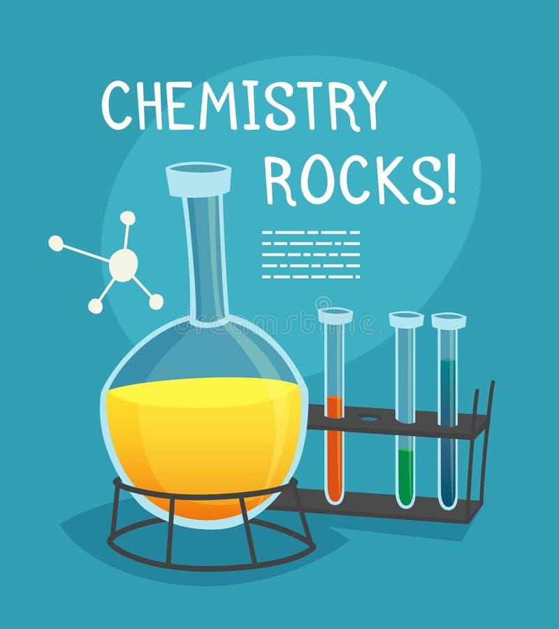 Chemical Laboratory Cartoon Concept stock illustration
