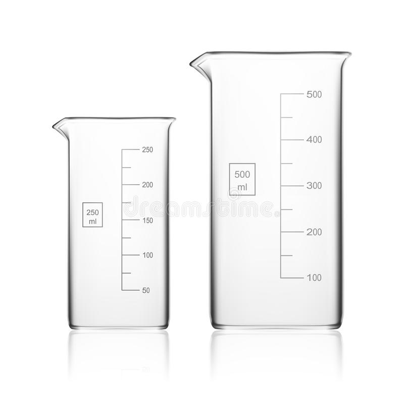 Chemical Laboratory Glassware Or Beaker. Glass Equipment Empty Clear Test Tube royalty free illustration