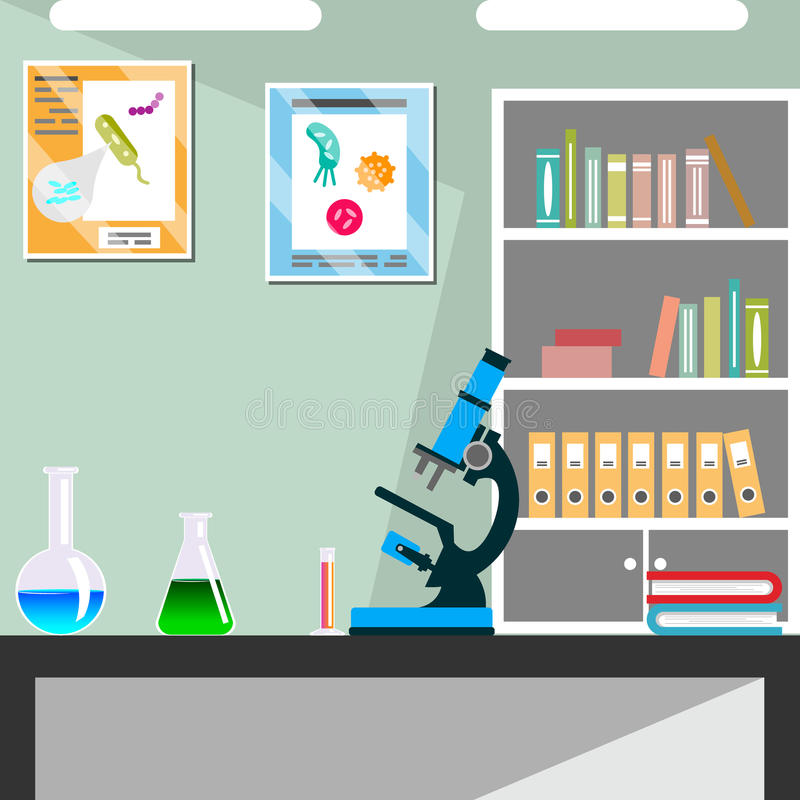 Chemical laboratory science and technology. Vector illustrator stock illustration