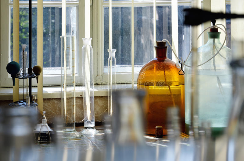 Chemical laboratory royalty free stock images